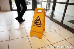 le risque de chute de plain pied